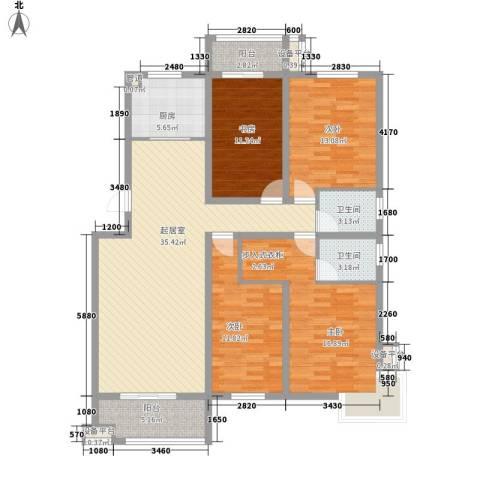 丽景天下4室0厅2卫1厨158.00㎡户型图