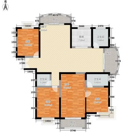 金和家园4室1厅3卫1厨211.00㎡户型图