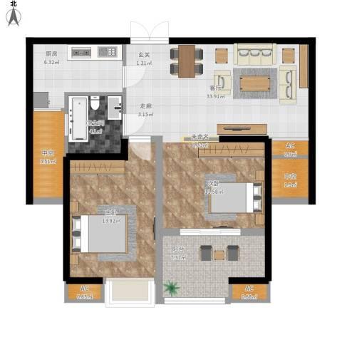 星雨华府1室1厅1卫1厨105.00㎡户型图