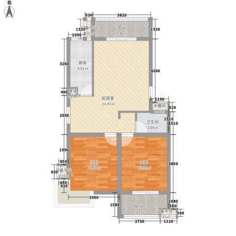 丽景天下2室0厅1卫1厨93.00㎡户型图