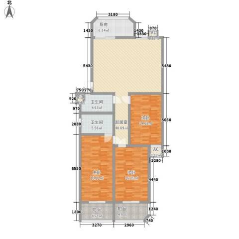 龙岱花园3室0厅2卫1厨169.00㎡户型图