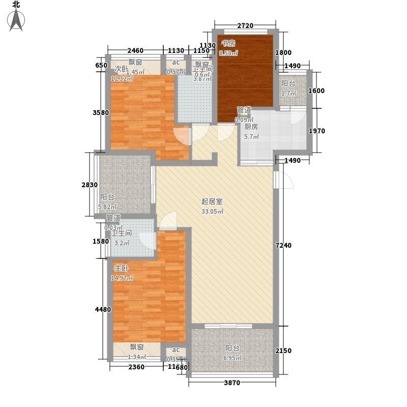 山水华庭140.00㎡山水华庭户型图3期25#33#楼C4户型3室2厅2卫1厨户型3室2厅2卫1厨