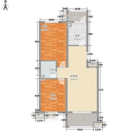 丽景天下2室0厅1卫1厨113.00㎡户型图