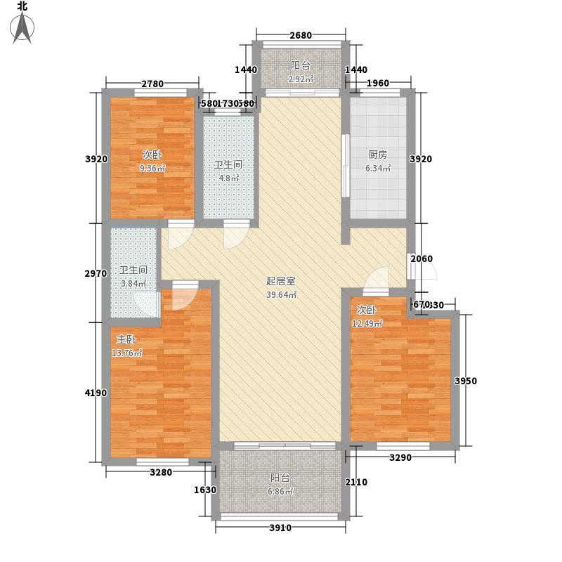 外海蝶泉山庄别墅145.27㎡A7号楼J户型3室2厅2卫