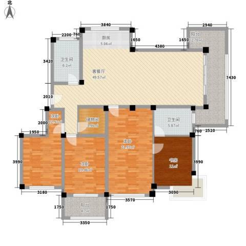 金和家园4室1厅2卫0厨203.00㎡户型图