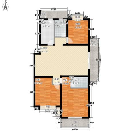 湖西庭园3室0厅2卫1厨127.00㎡户型图