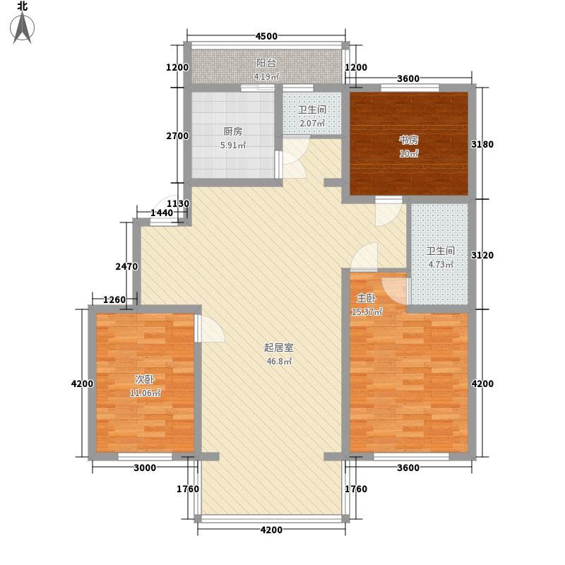 万新东苑127.89㎡万新东苑户型图3室2厅2卫户型10室