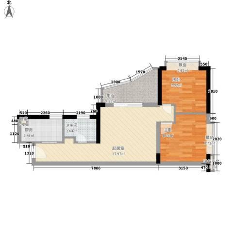 金汇大厦2室0厅1卫1厨60.00㎡户型图