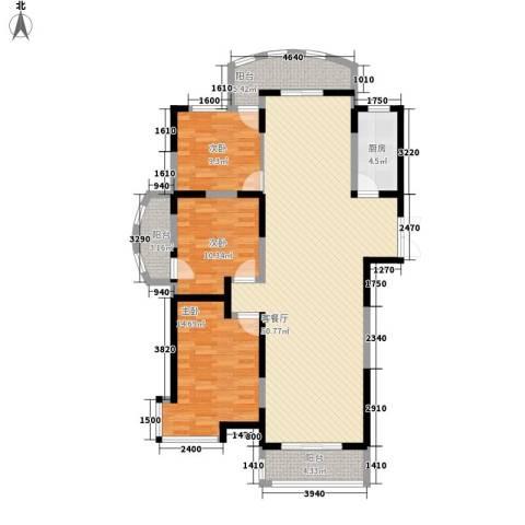 金和家园3室1厅0卫1厨148.00㎡户型图