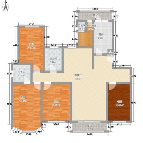 新江湾城4室1厅3卫1厨191.00㎡户型图