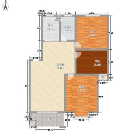 名仕・佳园3室0厅1卫1厨119.70㎡户型图