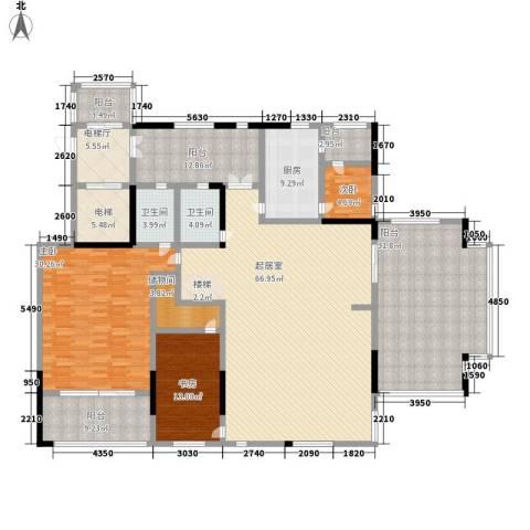 佛山力迅上筑3室0厅2卫1厨293.00㎡户型图