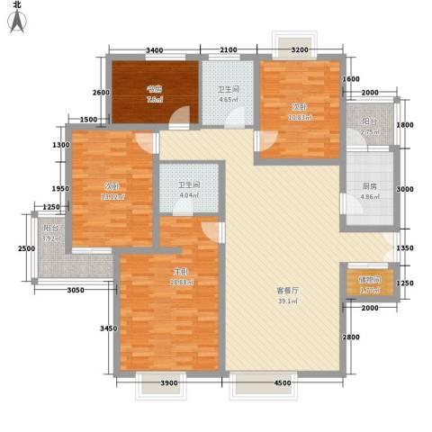 美林湾4室1厅2卫1厨161.00㎡户型图