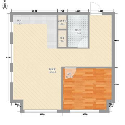 营盘小区1室0厅1卫0厨64.00㎡户型图