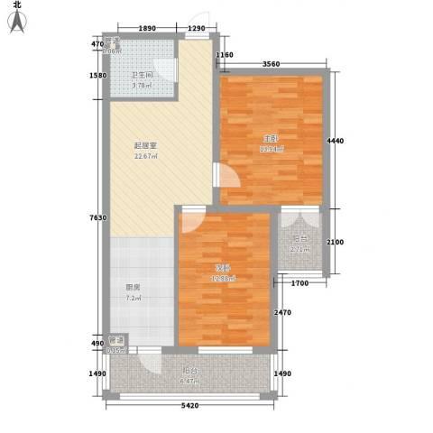 家园新城2室0厅1卫0厨62.65㎡户型图
