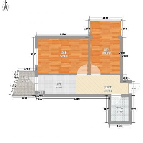 东泰金谷2室0厅1卫0厨54.00㎡户型图