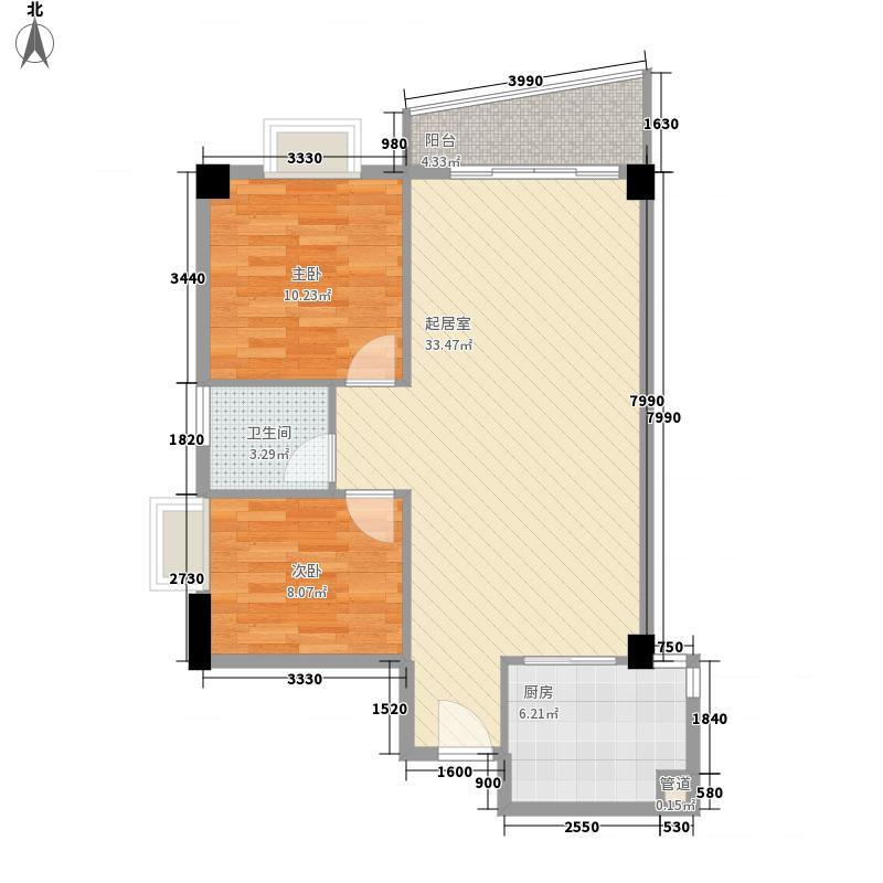 颐和上院二期83.00㎡颐和上院二期户型图3座04单位2室2厅1卫1厨户型2室2厅1卫1厨