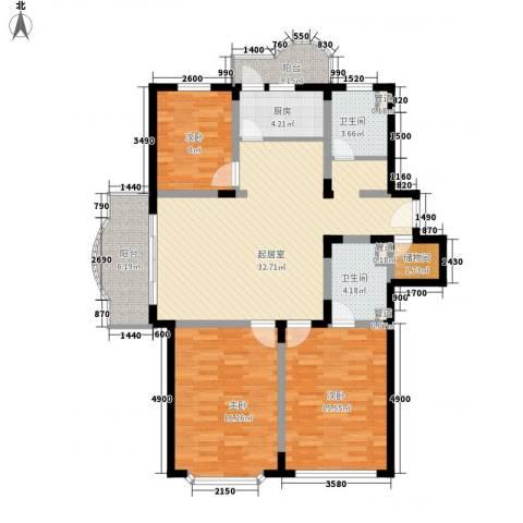 申达枫桥苑3室0厅2卫1厨139.00㎡户型图