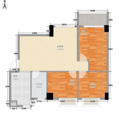 颐和上院二期3室0厅1卫1厨97.00㎡户型图