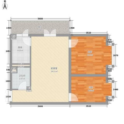东建金凯国际2室0厅1卫1厨69.00㎡户型图