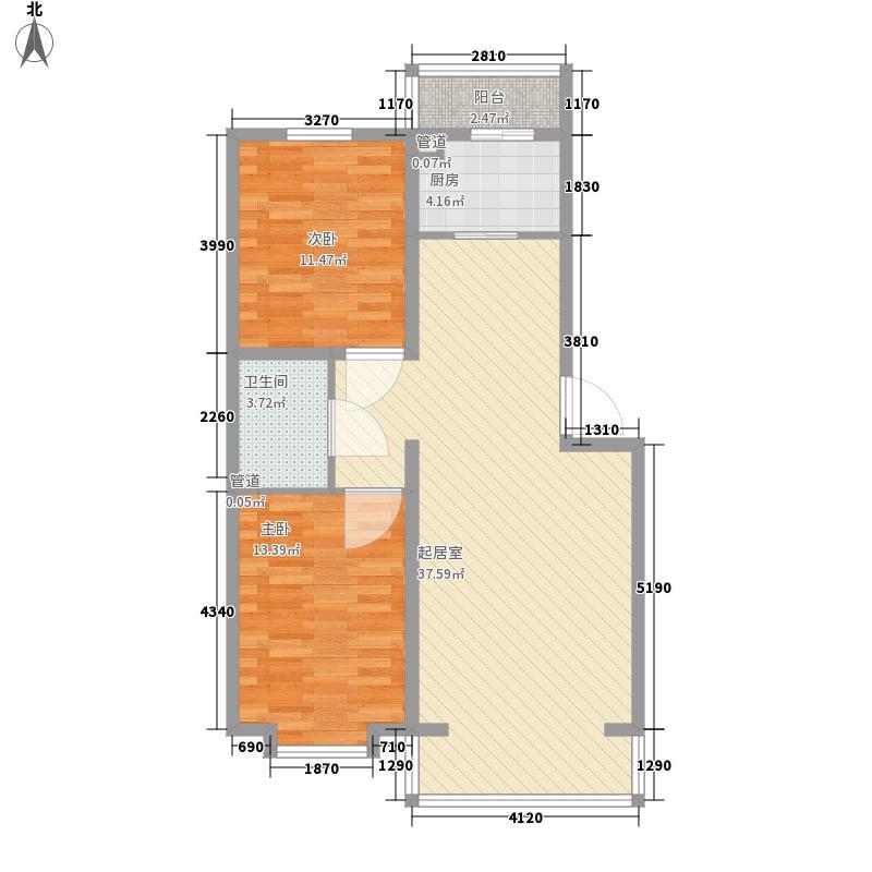 易居园易居园户型图2室1厅1卫户型10室