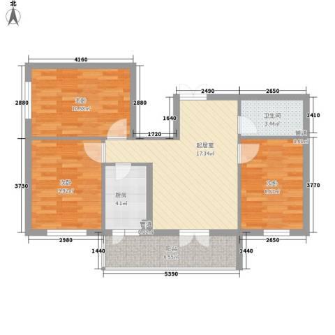 东建金凯国际3室0厅1卫1厨69.00㎡户型图