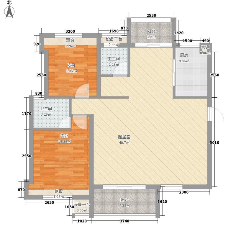 宏成・富园115.80㎡宏成・富园a12室2厅2卫1厨115.80㎡户型2室2厅2卫1厨