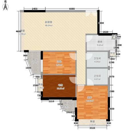 碧水明筑3室0厅2卫1厨131.00㎡户型图