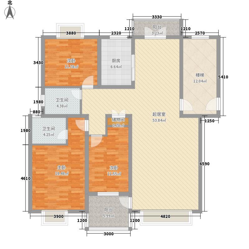 瑞海花园130.00㎡瑞海花园3室户型3室