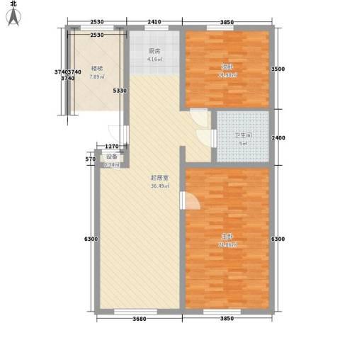 水宜家苑2室0厅1卫0厨100.00㎡户型图