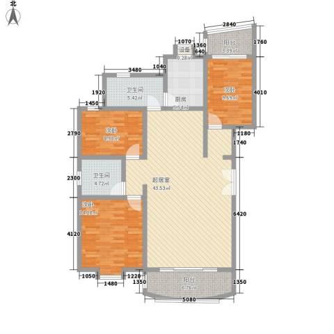 幸福人家3室0厅2卫1厨148.00㎡户型图