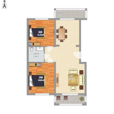 绿景家园2室1厅1卫1厨103.00㎡户型图