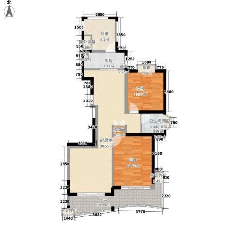 炜赋人和家园2室0厅1卫1厨118.00㎡户型图