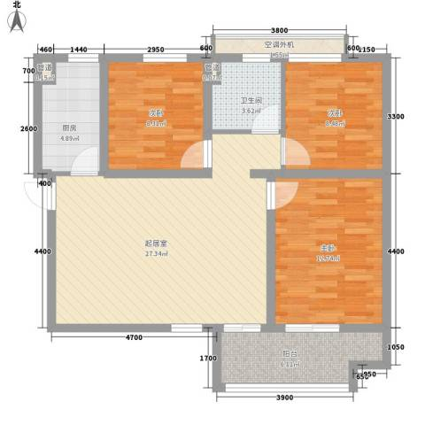 炜赋人和家园3室0厅1卫1厨106.00㎡户型图