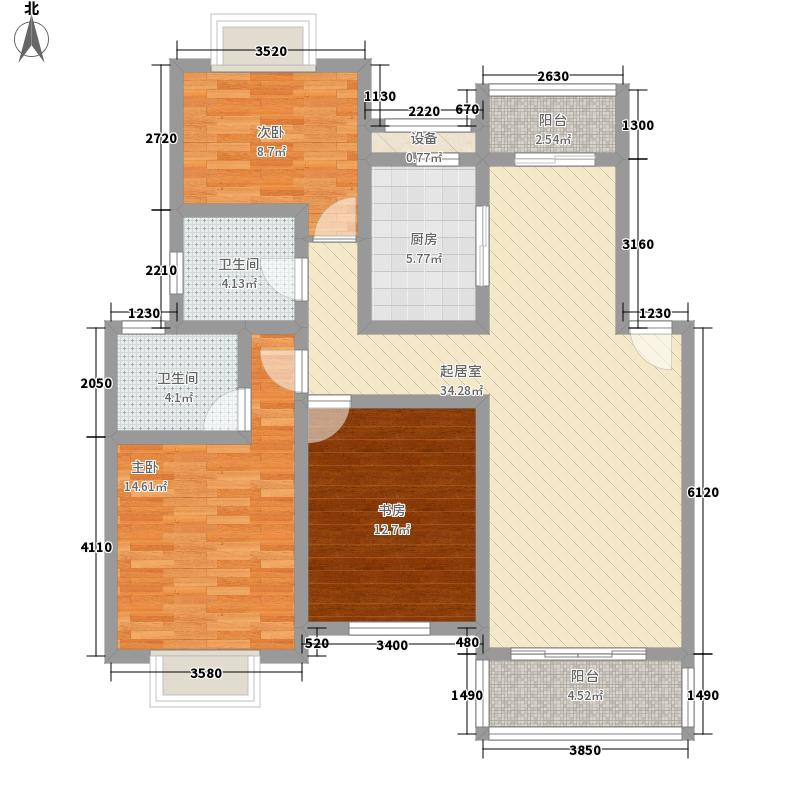 多伦多国际花园135.00㎡多伦多国际花园3室户型3室