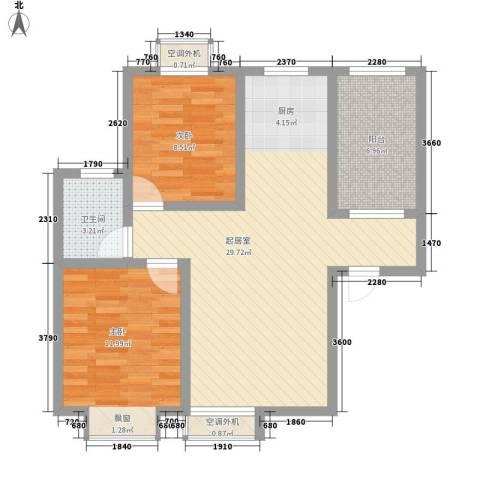 君德城上城2室0厅1卫0厨87.00㎡户型图