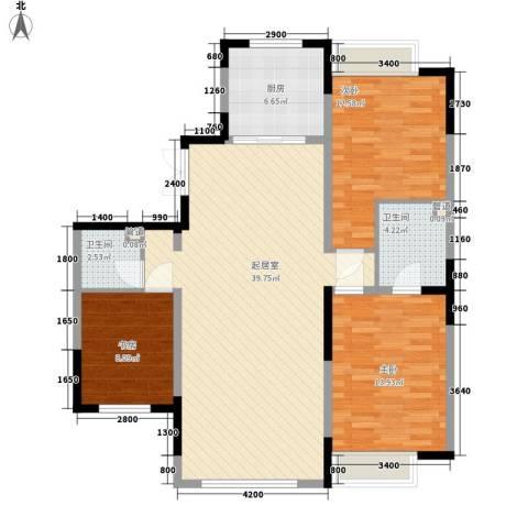 融创上城别墅3室0厅2卫1厨87.92㎡户型图
