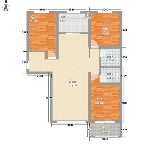 泰安盛世3室0厅2卫1厨126.00㎡户型图