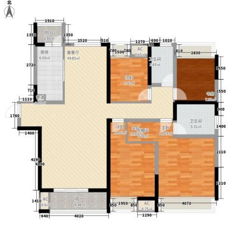 融科九重锦4室1厅2卫1厨165.00㎡户型图