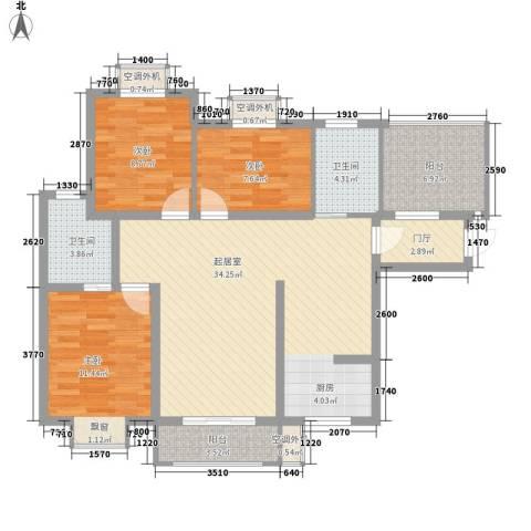君德城上城3室0厅2卫0厨120.00㎡户型图