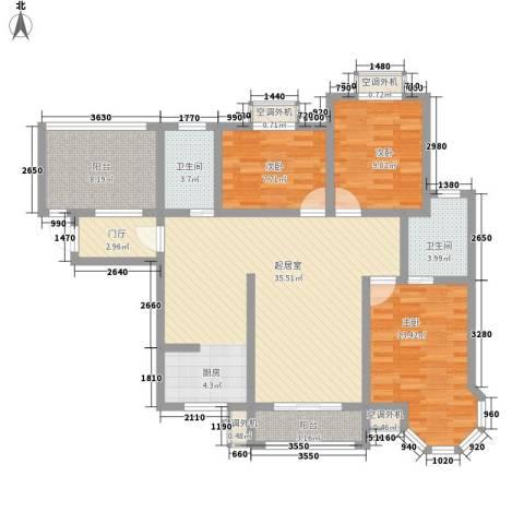 君德城上城3室0厅2卫0厨128.00㎡户型图