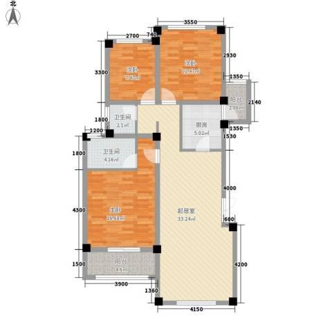 城市庭院3室0厅2卫1厨127.00㎡户型图