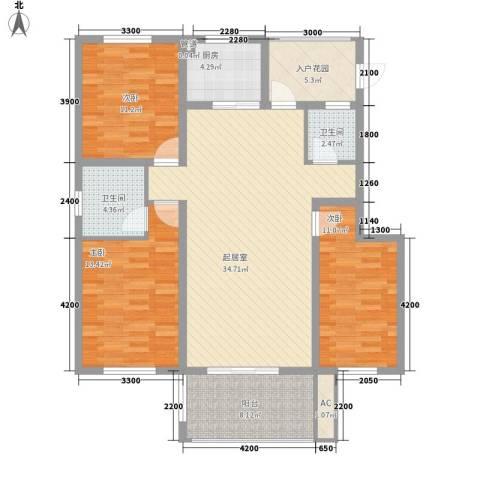 泰安盛世3室0厅2卫1厨123.00㎡户型图