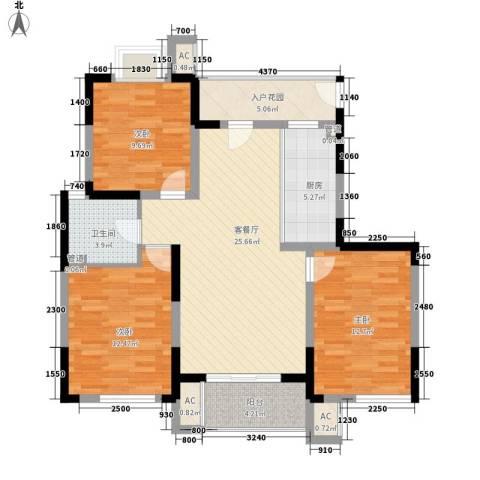 凯运天地3室1厅1卫1厨117.00㎡户型图