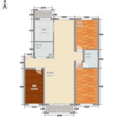 天一地矿花园3室0厅2卫1厨152.00㎡户型图