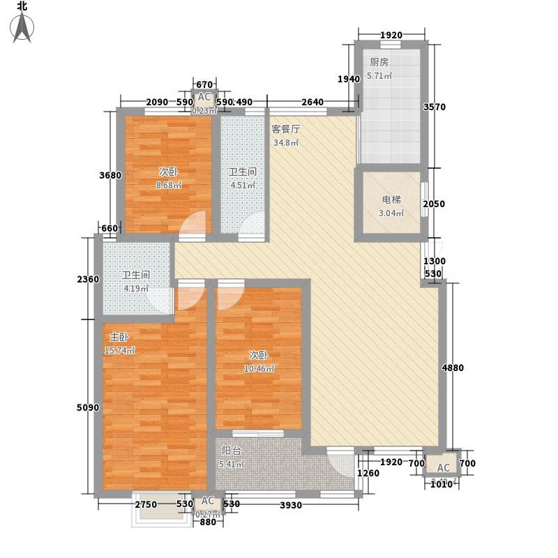 亲亲荷院136.00㎡亲亲荷院户型图户型3室2厅2卫1厨户型3室2厅2卫1厨