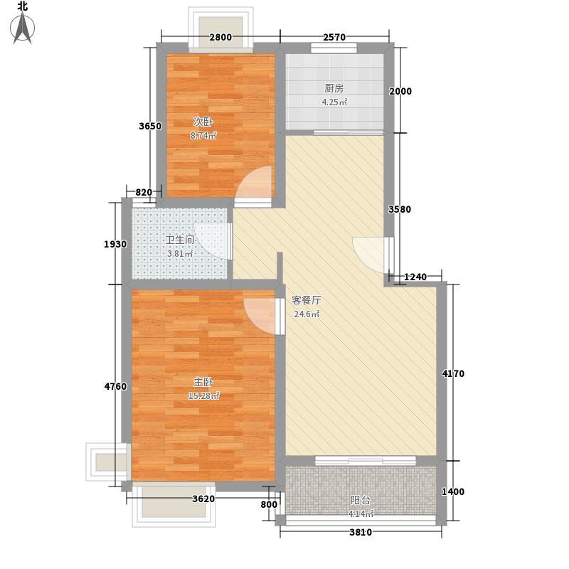 兴水园_092001041_2户型2室2厅1卫1厨