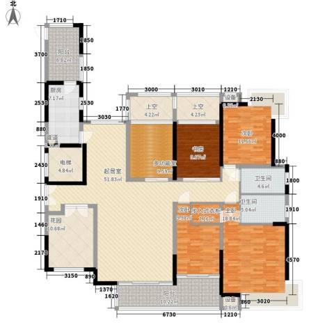 金域中央4室0厅2卫1厨180.00㎡户型图