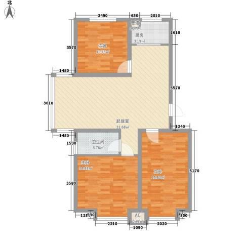 水语青城3室0厅1卫1厨115.00㎡户型图