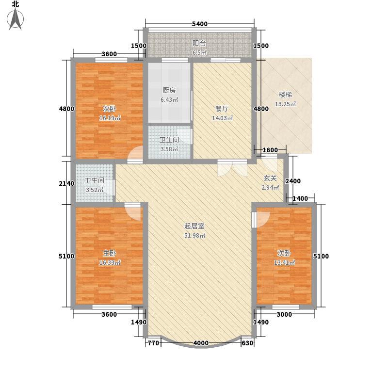 金山小区161.86㎡金山小区户型图3室2厅2卫户型10室